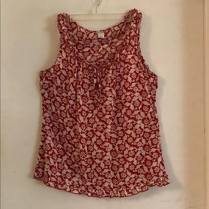Sleeveless Old Navy White and Red floral